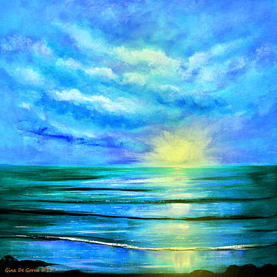 Painting - Peacefully Blue by Gina De Gorna