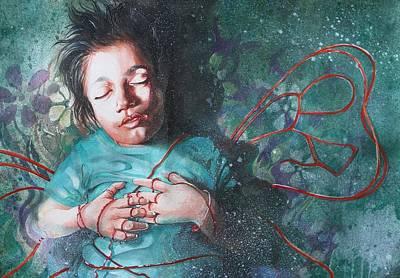 Parallel World Painting - Peacefully Innocent by Avinash Kumar