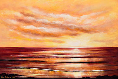 Painting - Peacefully Yours - Landscape Sunset by Gina De Gorna