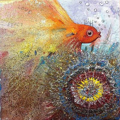 Painting - Peace,love,light  by Nino Gabashvili