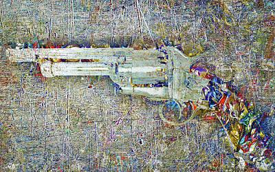 Western Art Mixed Media - Peacemaker by Tony Rubino