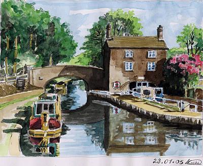 Peacfull House On The Lake Art Print