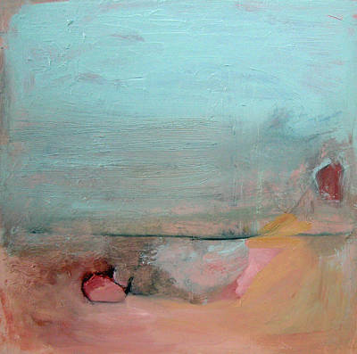 Painting - Peach And Mint Green by Brooke Wandall