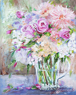 Painting - Peach And Pink Bouquet by Jennifer Beaudet