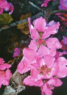 Peach Blossoms Original by Debra Edelman