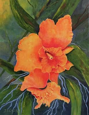 Painting - Peach  Blush Orchid by Jane Ricker