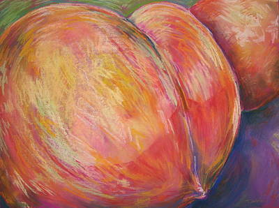 Painting - Peach Bottom by Outre Art  Natalie Eisen