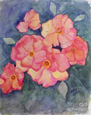 Painting - Peach Drift Roses  by Barrie Stark