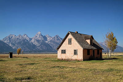 Photograph - Peach House Tetons by Shirley Mitchell
