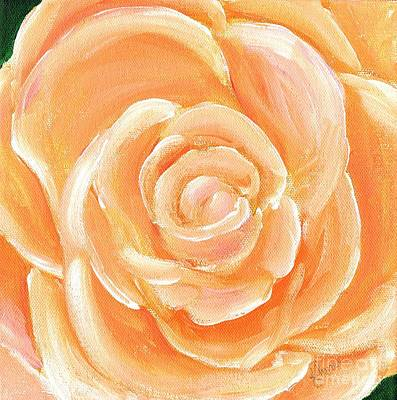 Painting - Peach Melba by Karen Jane Jones