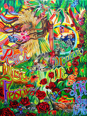 Painting - Peach Music Festival 2015 by Kevin J Cooper Artwork