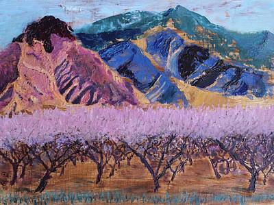 Peach Orchard Canigou Art Print