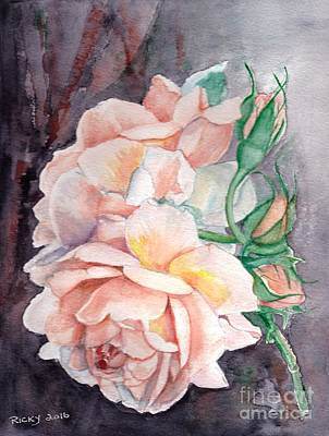 Peach Perfect - Painting Art Print by Veronica Rickard
