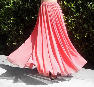 Peach Pink Chiffon Skirt. Ameynra Design 13-17 Art Print