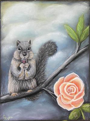 Wall Art - Painting - Peach Rose by Carol Iyer