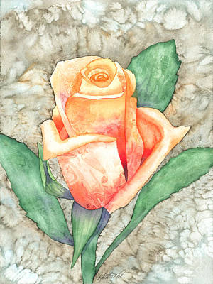 Painting - Peach Rose by Kristen Fox