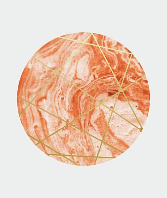 Digital Art - Peach Sphere by Uma Gokhale