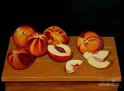 Painting - Peach Still Life by Michael Nowak
