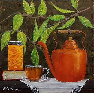 Painting - Peach Tea by Mike Caitham