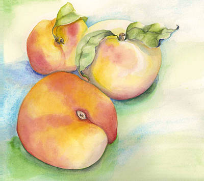 Peach Time Art Print