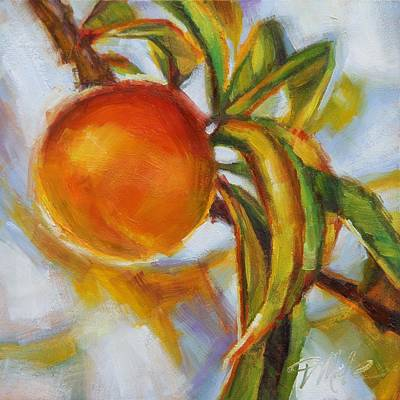 Fruit Tree Art Painting - Peach by Tracy Male