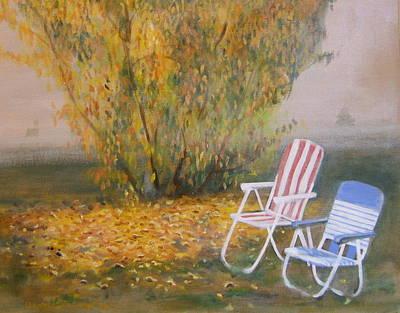 Peach Tree And Winter Fog Art Print by Howard Stroman