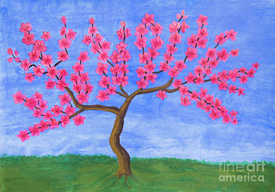 Painting - Peach Tree In Blossom, Painting by Irina Afonskaya