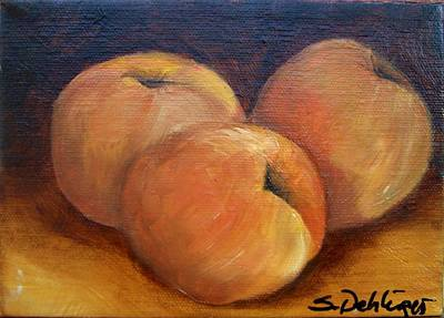 Painting - Peach Trio by Susan Dehlinger