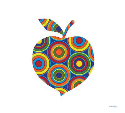 Peach With Circles On White Art Print