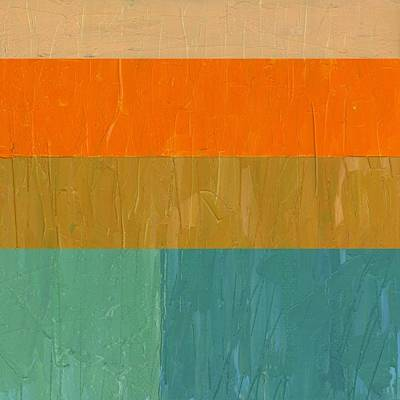 Painting - Peach With Orange And Teal by Michelle Calkins