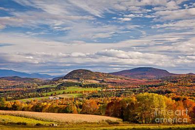 Photograph - Peacham Autumn Sky by Susan Cole Kelly