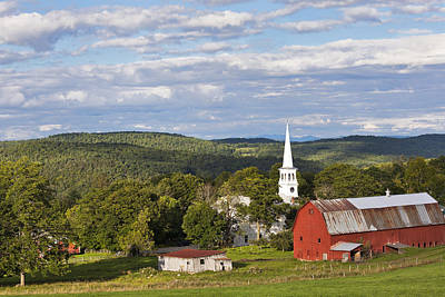 Photograph - Peacham Vermont Summer Scenic by Alan L Graham