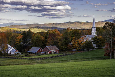 Photograph - Peacham Vermont by Expressive Landscapes Fine Art Photography by Thom