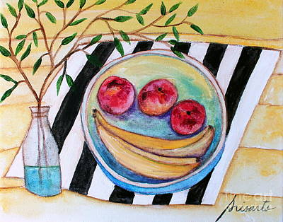 Painting - Peaches And Bananas by Pristine Cartera Turkus