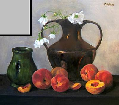 Painting - Peaches And Gray by Robert Holden