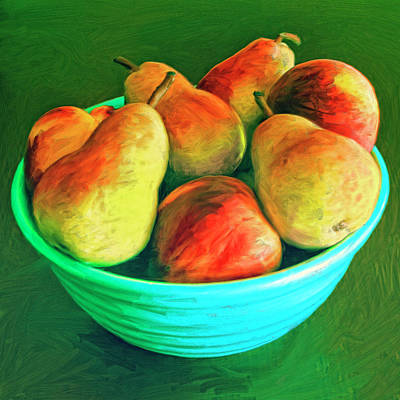 Peaches And Pears Art Print by Dominic Piperata