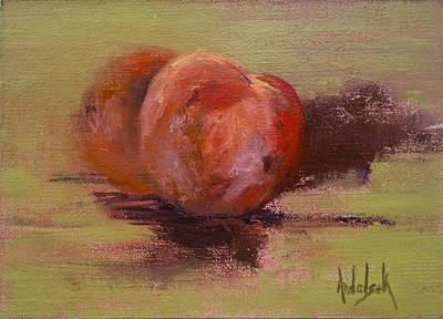 Painting - Peaches by Barbara Andolsek