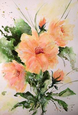 Painting - Peaches by Bette Orr