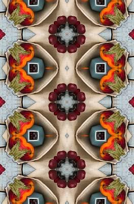 Digital Art - Peaches Cherries Plums Abstract Art by Sheila Mcdonald