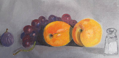 Painting - Peaches  by G Cannon