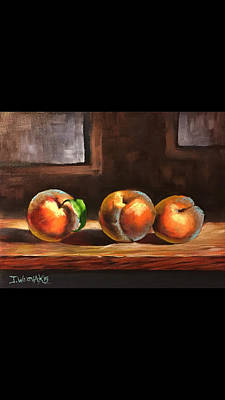 Painting - Peaches  by Justin Wozniak