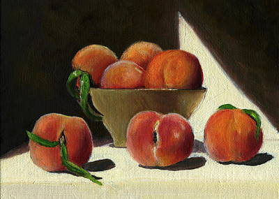 Peaches Art Print by Karyn Robinson
