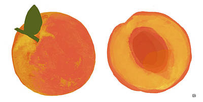 Painting - Peaches by  Lisa Weedn