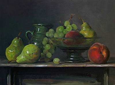 Painting - Peachy Greens by Robert Holden
