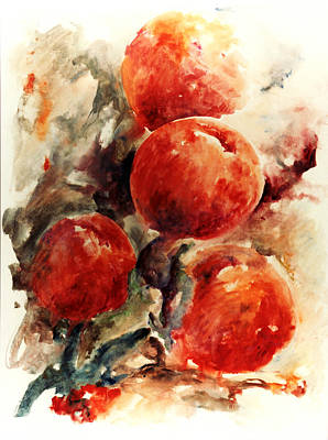 Peaches Art Print by Rachel Christine Nowicki