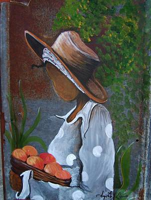Gullah Geechee Painting - My Peaches by Sonja Griffin Evans