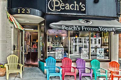 Photograph - Peach's Frozen Yogurt by William Norton