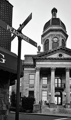 Cherokee County Photograph - Peachtree And Central In Black And White by Greg Mimbs