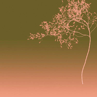 Digital Art - Peach Tree by Susan Maxwell Schmidt