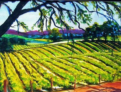 Painting - Peachy Canyon Vines by Therese Fowler-Bailey